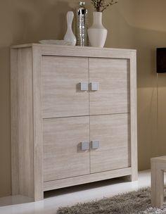 cómoda moderna color beige