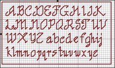 Cross Stitch Alphabet Patterns, Alphabet Charts, Cross Stitch Letters, Cross Stitch Boards, Beaded Cross Stitch, Cross Stitch Baby, Cross Stitch Designs, Cross Stitch Embroidery, Stitch Patterns