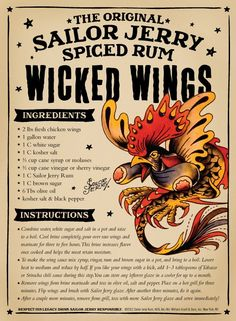 Sailor Jerry Wicked Wings