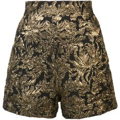 Haider Ackermann Jacquard Shorts (1.270 RON) ❤ liked on Polyvore featuring shorts, bottoms, pants, haider ackermann, black and jacquard shorts