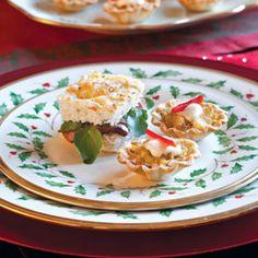 Crab-Swiss Tartlets