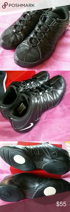 NIKE TENNIS SHOE EUC Solid Black Nike's... I purchased these a few years ago because I needed an all black tennis shoe and never wore them again... In great condition but the swoosh is worn off on the inside... Nike Shoes Athletic Shoes