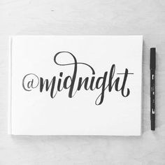 By marlamoore I love this show. @midnight #lettering #handdrawntype #handlettering #handtype #thedailytype #goodtyp…