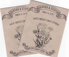 Rustic Wildflower Seed Packet For Weddings