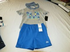 Quiksilver Boys baby youth hoody T shirt shorts set outfit 12 M month 4057032-99 #Quiksilver