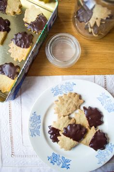 Olive Oil Shortbread Cookies with Dark Chocolate (gluten free, vegan)   Cooked Well