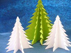 DIY Christmas Crafts - Origami Christmas Trees