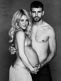 this is the only time I've seen a bare belly maternity photo that doesn't totally gross me out. but of course, it's shakira and she's fit to a t.
