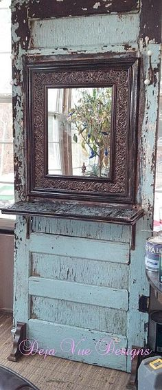 DIY:: Beautiful old door remade into hall tree Tutorial!