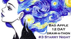 #3 Starry Night - Bad Apples 12 Days Draw-A-Thon