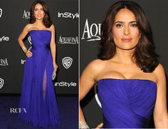 Salma Hayek In Gucci Première – 2015 InStyle and Warner Bros. Golden Globe Awards Post-Party