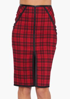 Bedazzled Plaid Skirt