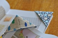 Fabric Corner Bookmarks Tutorial at Craft Buds #sewing