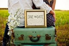 love the rustic look #invitations......use an old trunk?