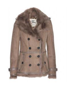 Burberry London - Shearling-lined suede jacket - mytheresa.com GmbH