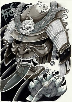 Japanese Samurai Warrior Mask | Tattoo Samurai by ~minhluurangon on deviantART