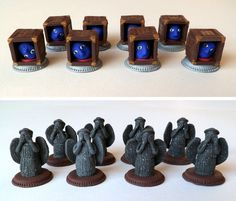 home made Chess Pieces | Homemade Doctor Who chess set turns Matt Smith into a king, the TARDIS ...