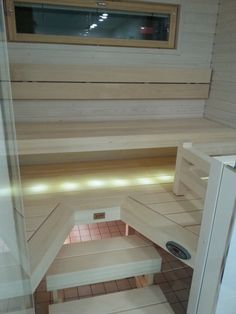 Sauna Design, Finnish Sauna, Saunas, My Dream Home, Toilet, Relax, Stairs, Bath, Cool Stuff