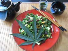 A nice meal with marijuana