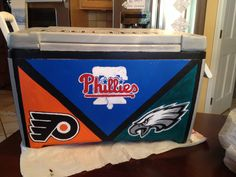 #paintedcooler #cooler #philadelphia #phillysports #philly #eagles #flyers #phillies
