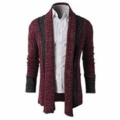 Also Easy Knitted Cardigans Sweater Men Shawl Collar Long Sleeve Open Front Pull Homme Casual Splicing Autumn Winter Knitwear Mens Cable Knit Cardigan, Mens Shawl Collar Cardigan, Men Sweater, Black Cardigan, Man Cardigan, Hooded Sweater, Knit Fashion, Mens Fashion, Sweater Fashion