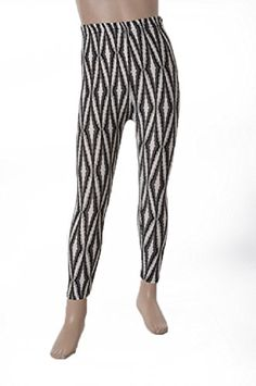 L4U Girls Optical Illusion Grey Diamonds Brushed Printed Fashion Leggings. Available in two sizes: S/M, and L/XL.