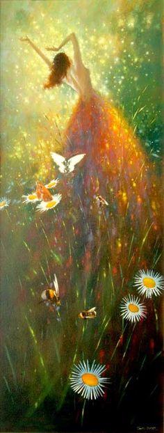 Vestido de Borboleta - Um mundo encantador pintado por Jimmy Lawlor