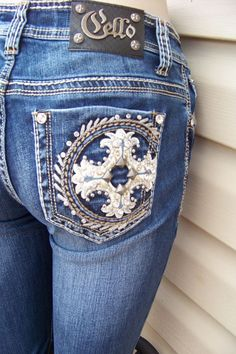 Cello Embellished bling boot cut cowgirl jeans junior sizes 1 3 5 7 9 11 15 #CelloJeans #BootCut