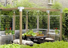Pergola With Retractable Canopy Kit Shade Canopy, Retractable Canopy, Pergola, Outdoor Structures, Garden, Kit, Garten, Outdoor Pergola, Lawn And Garden