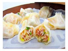 scallop steamed dumpling | Taiwanese cuisine 干貝蒸餃  Chinese food and dimsum
