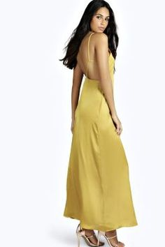 Shyla Strappy Back Woven Maxi Dress