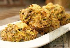 Cukkini fasírt 4. - zabpelyhes Tapas, Cauliflower, Chips, Healthy Recipes, Chicken, Meat, Vegetables, Food, Cauliflowers