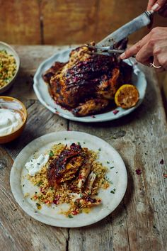Roast Harissa Butter Chicken & Cracked Wheat | DonalSkehan.com, Perfect family food from Stirring Slowly by Georgina Hayden.