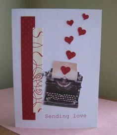 This looks like the new Stampin Up typewriter stamp