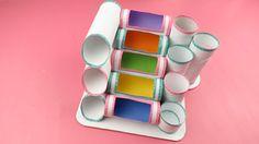 Con rollos de papel podrás hacer el perfecto organizador para tu escritorio o mesa de trabajo.