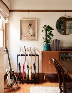 Australian Homes — Sections — The Design Files Home Music Rooms, Music Studio Room, Casa Rock, Guitar Room, Style Deco, Art Deco Home, Bohemian Interior, The Design Files, My New Room
