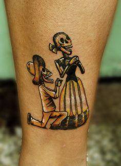 Tattoo ilustracion de Guadalupe Posada. by Miss Hask ▼▼▼, via Flickr