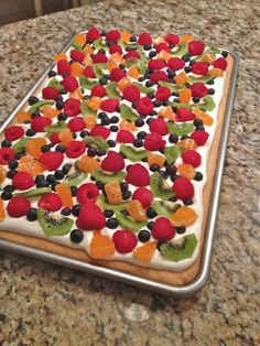 This stoner-friendly fruit pizza has a cookie-cake base and is inspired by the classic deep-dish style pizza crust. Crowned with a delicious sweet cream cheese...