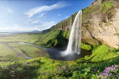 Summer Idyll, waterfall Seljalandsfoss is one of the most famous waterfalls of Iceland.                  9:58 am                    It is very picturesque and therefore its photo can be found in many books and calendars. It was a waypoint during the first leg of The Amazing Race 6. Seljalandsfoss...