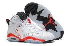 f06f98b21b5f7e Women s Air Jordan 6 Retro White Varsity Red Shoes