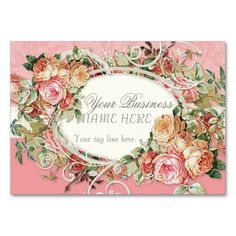 COLOR PALETTE: pastel bright pink, cream, grey and off white.  DESIGN COLLECTION:  Matching Feminine style Business Cards that are especially useful for florists, floral designers, wedding or bridal shoppes and wedding industry professional designers.  If your design work is particulary lovely or lavish, this card is for you!  This set is an elegant, exquisitely beautiful design that was made from antique vintage rose bouquet art mixed with elegant scroll swirl flourishes and a subtle pastel…