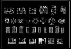 ★【Interior Design 2D Blocks】-CAD Library |  AutoCAD Blocks | AutoCAD Symbols | CAD Drawings | Architecture Details│Landscape Details
