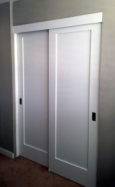 Image result for how to convert closet into locking owner\'s closet Any way to put deadbolt on the right side with no door on the left?