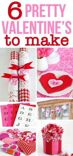 Have fun making pretty Valentines to give your family and friends this year using scraps of paper and items around your house you many not think of.  Plus Free printable monogrammed hearts to use on gifts or make Valentine banners