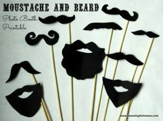 Baby Shower DIY Photo Booth Moustache and Beard Printables by meaningfulmama