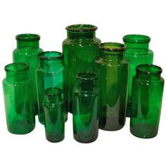 green apothecary jar - Google Search