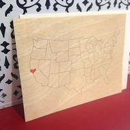 wood veneer. heart in san francisco. unionstreetpapery / SAN FRANCISCO ITEMS