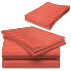 "500 Thread Count Egyptian Cotton Stripe Brick Red Twin Bed Skirt by Scala. $34.99. 1 Bed Skirt. Set Includes: 1 Twin Size Bed Skirt 39"" X 75"" with 15"" drop, Tailored style, split corners, Material: 100% Egyptian cotton,Sateen finish Bed Skirt, Single-ply, Care instructions: Machine washable."