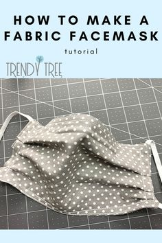 Amazing Super How to Make a Fabric Face Mask with Elastic, String Ties or Shoestring Ties - Trendy T Small Sewing Projects, Sewing Projects For Beginners, Sewing Tutorials, Sewing Tips, Sewing Hacks, Sewing Crafts, Trendy Tree, Techniques Couture, Sewing Techniques