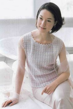 """Photo from album """"Amu 2005 on Yandex. Off The Shoulder Tunic, Summer Patterns, Knit Fashion, Filet Crochet, Women Wear, Tunic Tops, Album, How To Wear, Clothes"""